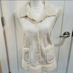 Nwot telluride faix shearling vest
